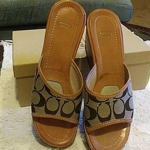 Coach wedge heels